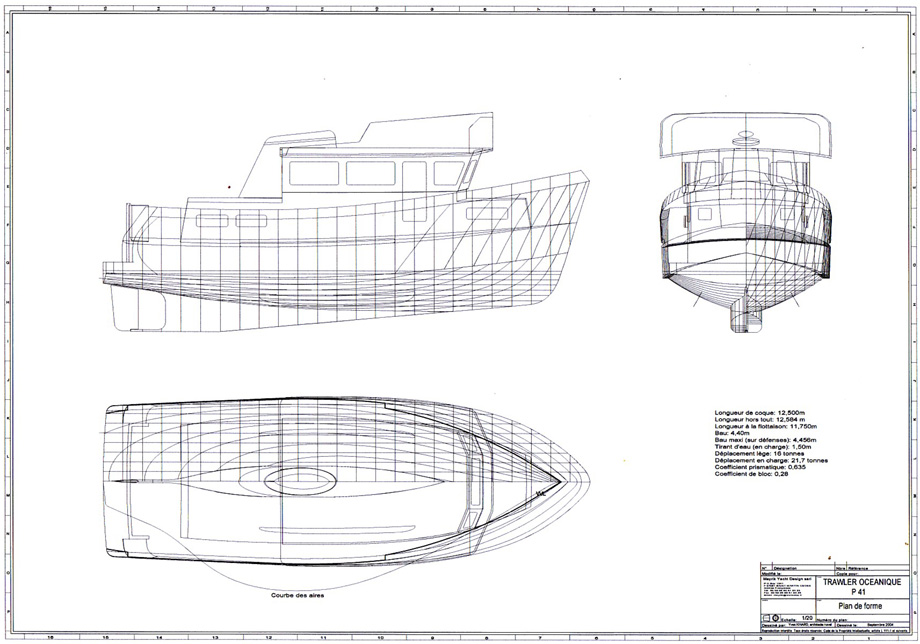 Trawler-Plans Mayrik Yacht Design P41 Trawler